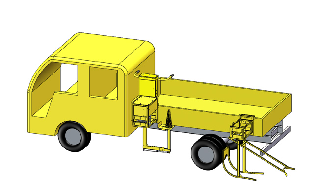 Semi-automatic road cone machinery